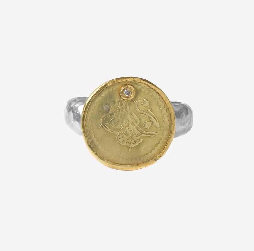 Bague Ottomane Karen Liberman en argent et or 21 ct, 780 euros chez White Bird