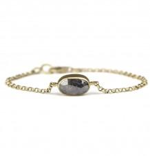 Reversible grey diamond bracelet