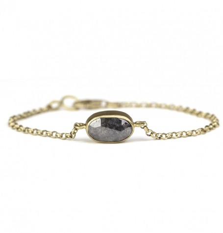 Reversible grey diamond bracelet