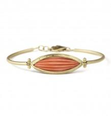18k gold hinged Coral bracelet