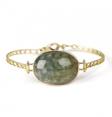 Aquamarine filigree bracelet