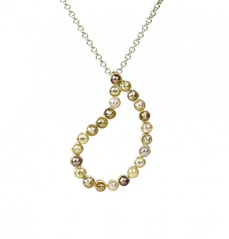 Paisley fancy diamonds pendant