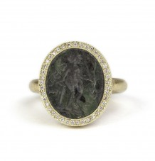 Carved Jade Intaglio ring