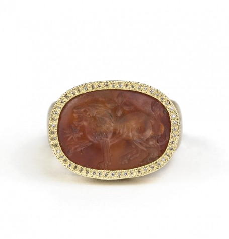 Carved Carnelian ring