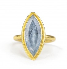 Marquise Aquamarine ring