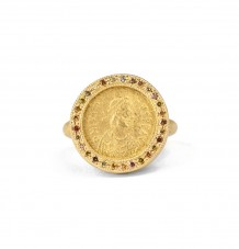 Ancient Byzantine Multi Colour Diamond Ring