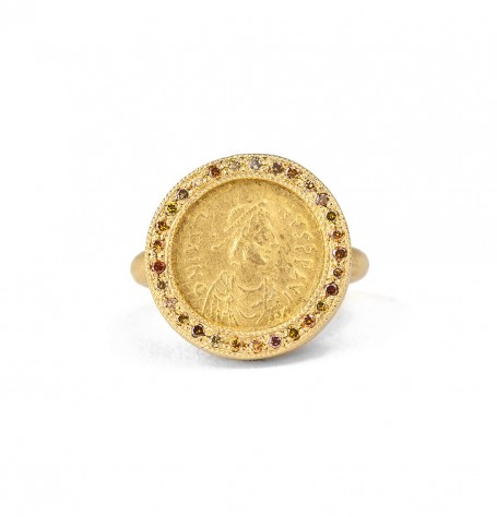Ancient Byzantine Multi Colour Diamond Ring
