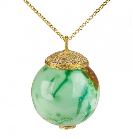 Turquoise Globe Pendant Necklace