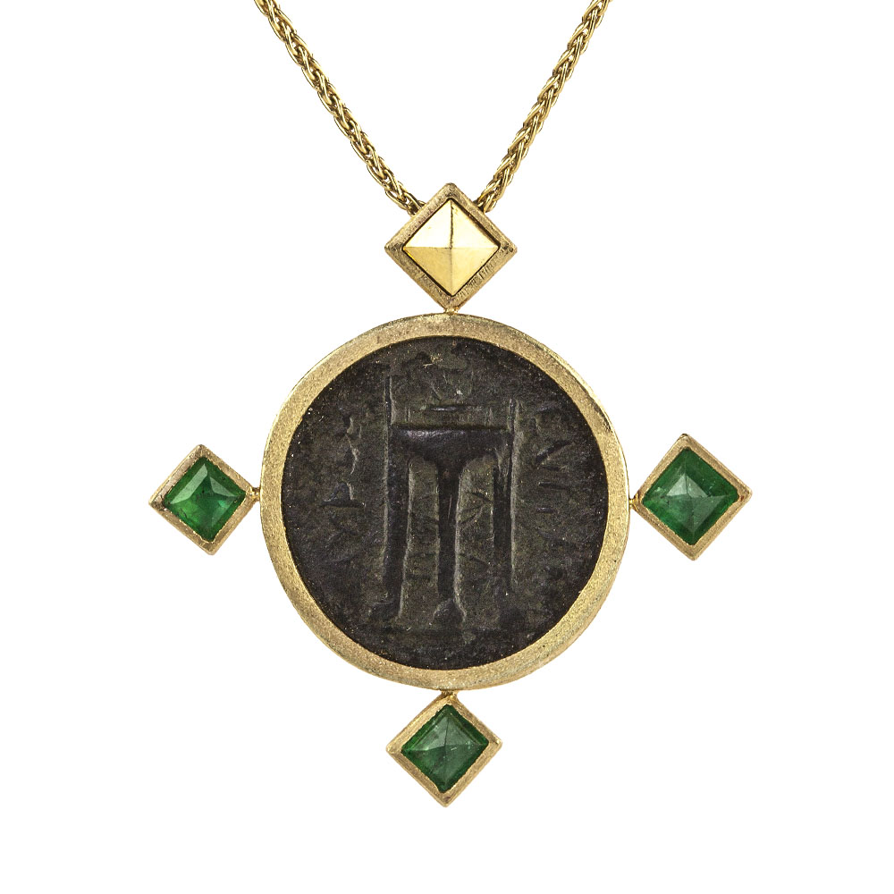 pendant francisco jewelers free friendly roman h coin conflict and chariot product d eco san ancient gold rose shop