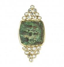Ancient Byzantine Diamond Shield Ring
