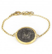 Ancient Coin Diamond Bracelet