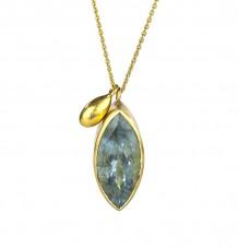 Aquamarine Marquise Necklace