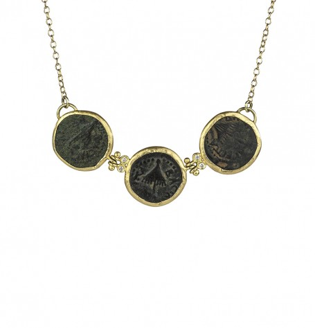 Ancient Triple Biblical Coin Necklace