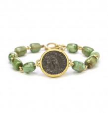 Ancient Ptolemaic Turquoise Bead Bracelet