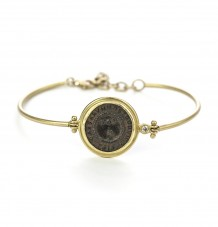 Ancient Roman Coin Hinge Bracelet