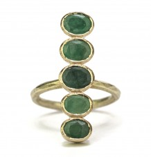 Emerald Bar Ring