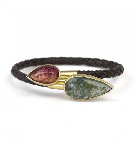 Aquamarine & Tourmaline bracelet