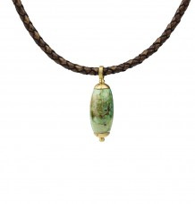 Turquoise Pendant on Leather Necklace