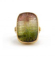 Watermelon Coloured Tourmaline Ring