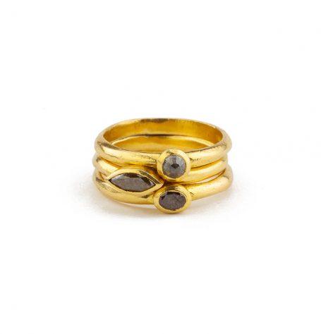 22K stacking rings
