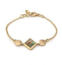 Abalone leaf bracelet