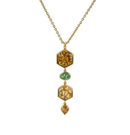 Tourmaline and Filigree Pendant Necklace