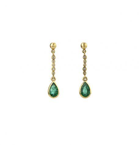 Emerald Tear Earrings