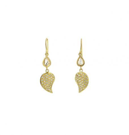 Paisley Pave diamond Earrings
