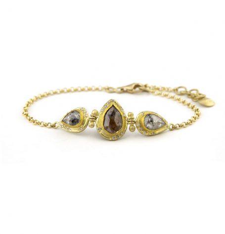 Rose Cut Diamond Bracelet