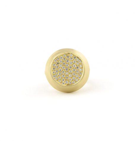 White Pave Diamond Ring