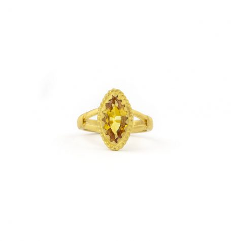 Marquis Yellow Sapphire Ring