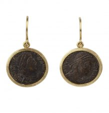 Bronze Roman Coin Earrings