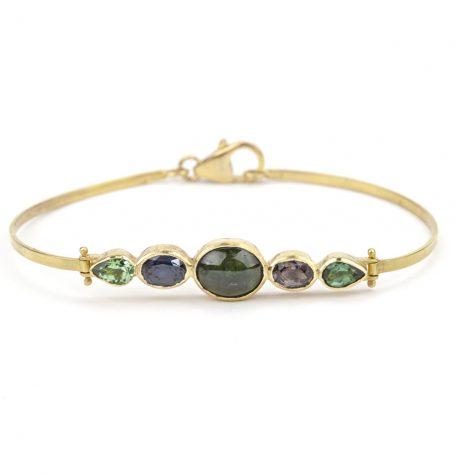 Tourmaline Hinge Bracelet