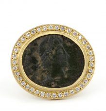 Antique Roman Coin Ring