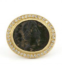 Antique Roman Coin Ring