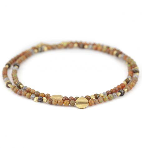 Ethiopian Opal Beaded Necklace