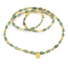 Turquoise and Opal beaded necklace