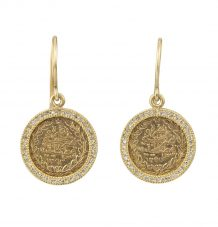 Gold coins and Diamond earrings