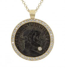 Antique Bronze coin necklace