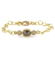 Diamond and Pave Spheres bracelet