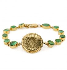 Ottoman Coin and Emeralds