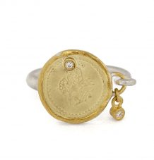 Ottoman Coin with diamond drop ring