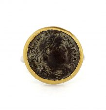 Antique Bronze Roman coin ring