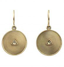 18k gold medallion earrings