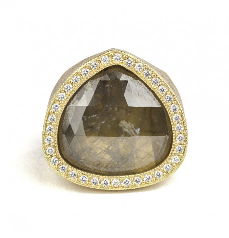 Rose-cut Diamond White Diamond Ring