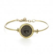 Ancient Roman Coin Hinge Bracelet