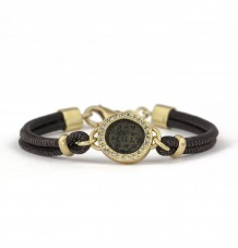 Roman Coin Leather Bracelet