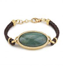 Jade Cabochon Bracelet