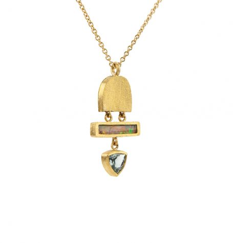 Opal and Tourmaline Bell Necklace