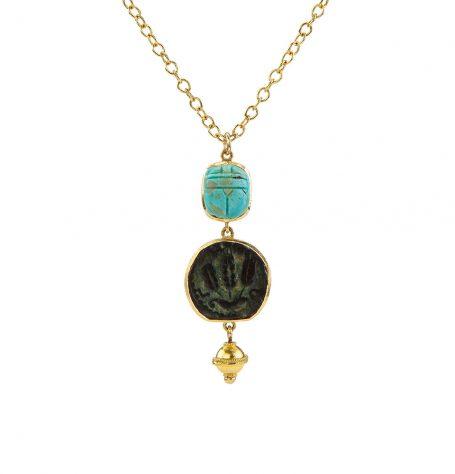 Antique Biblical Coin Necklace